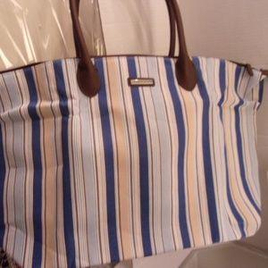 Longaberger tote bag & earrings NWOT retail $178